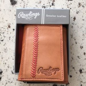 ❤️NEW!!❤️Rawlings Genuine Leather Baseball Wallet.